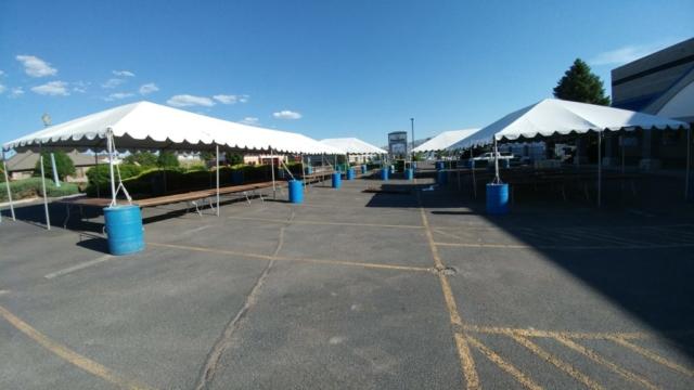 Frame Tents at a Vendor Fair